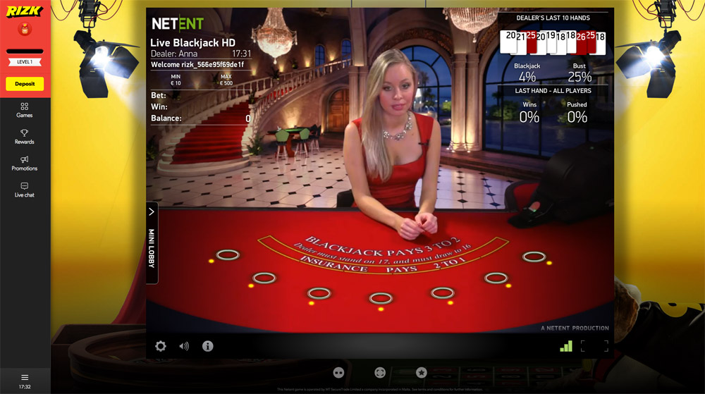 live casino rizk