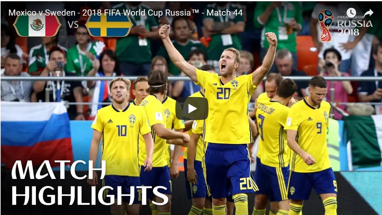 Sverige möter Schweiz i åttondelsfinalen i Fotbolls-VM